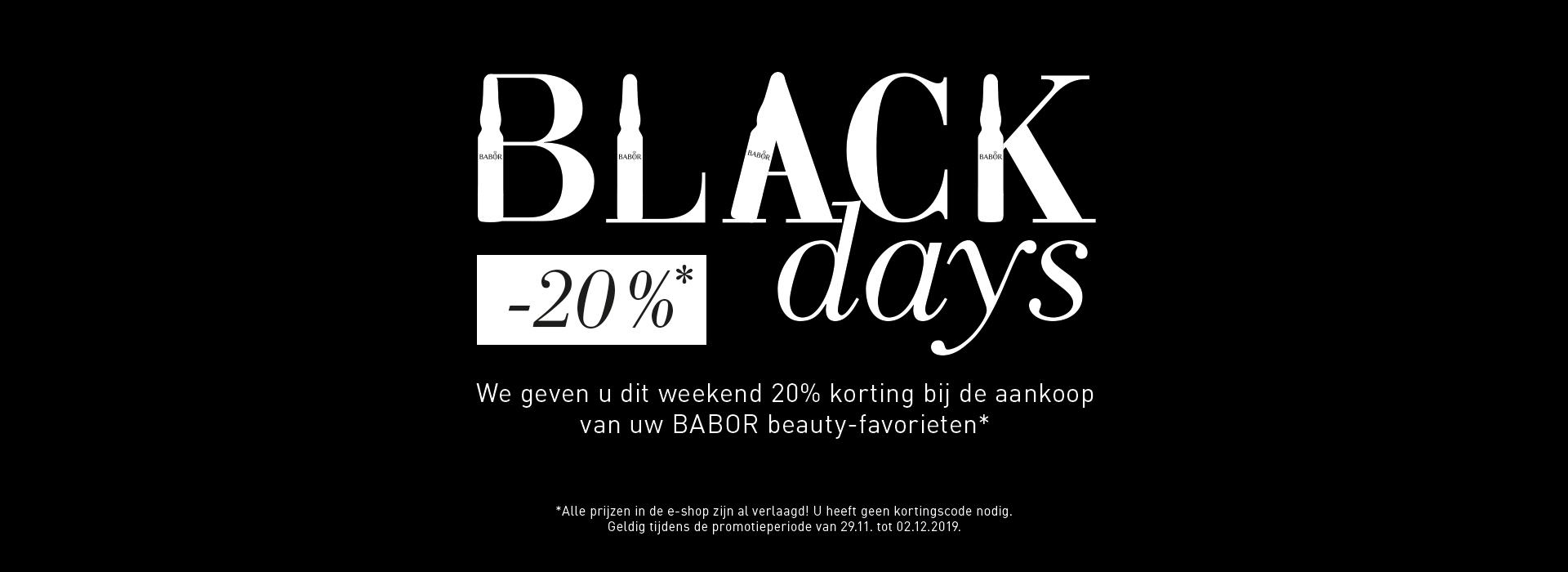 20% korting Black Friday Sale!